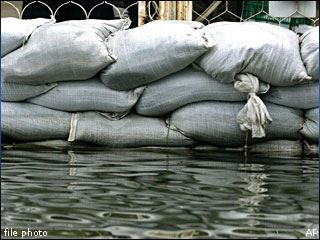 Sandbags Keeping Water Away