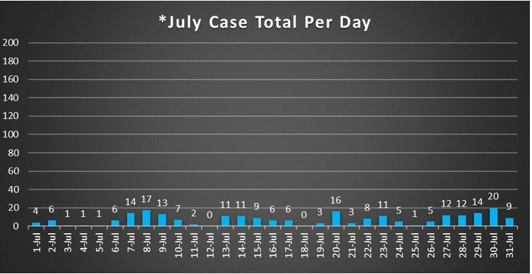 July Case Total Per Day 7-31-20